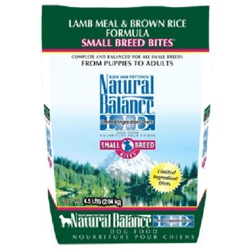 Natural Balance Limited Ingredient Diets Lamb Meal & Brown Rice Small Breed Bites Formula Dry Dog Food 4.5lb