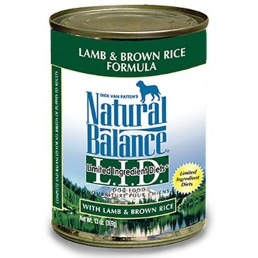 Natural Balance Limited Ingredient Diets Lamb & Brown Rice Formula Wet Dog Food 13oz