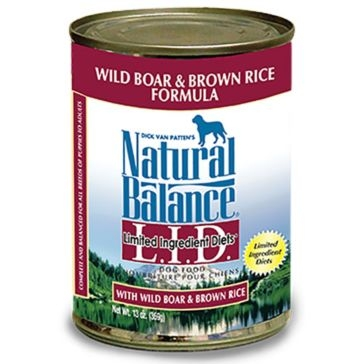Natural Balance Limited Ingredient Diets Wild Boar & Brown Rice Formula Wet Dog Food 13oz
