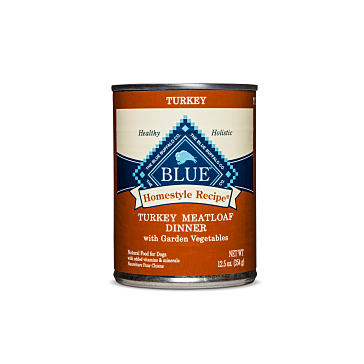 Blue Buffalo Homestyle Recipe Turkey Meatloaf Dinner Canned Dog Food