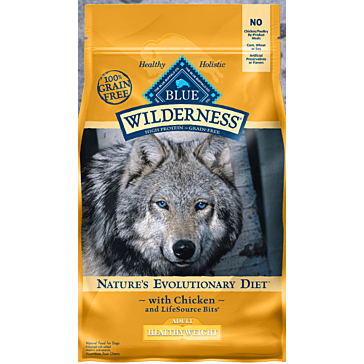 Blue Buffalo Wilderness Healthy Weight Chicken Adult Dry Dog Food, 4.5 lbs