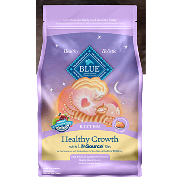 Blue Buffalo Healthy Growth Chicken & Brown Rice Kitten Food, 7 lbs