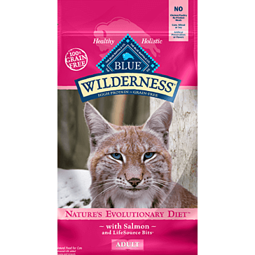Blue Buffalo Wilderness Salmon Adult Dry Cat Food 5 lbs