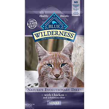 Blue Buffalo Wilderness Chicken Recipe Adult Cat Food 6 lbs