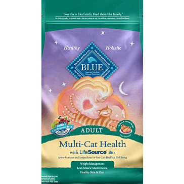 Blue Buffalo Multi-Cat Health Adult Cat Food, 7 lbs