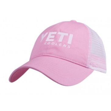 Yeti Trucker Low Profile Hat - White on Pink