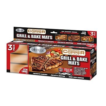 Copper XL Grill & Bake Mats 3 Pack