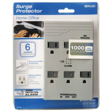 Coleman Cable Surge Protector 6 Outlet 041153