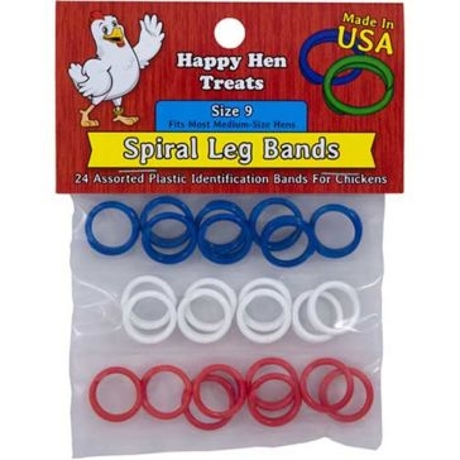 Happy Hen Spiral Leg Bands size 9