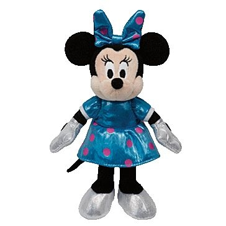ty 8in Sparkle Teal Minnie Disney 41065