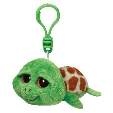 ty 5in Zippy The Green Turtle Beanie Boo Clip 36589