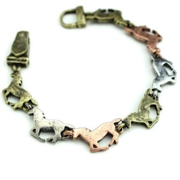 Wyo-Horse Three-Toned Running Horse Bracelet