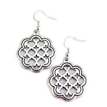 Wyo-Horse Silver Blossom Screen Earrings
