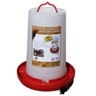 Farm Innovators 100W Heated Poultry Fountain 3-Gallon