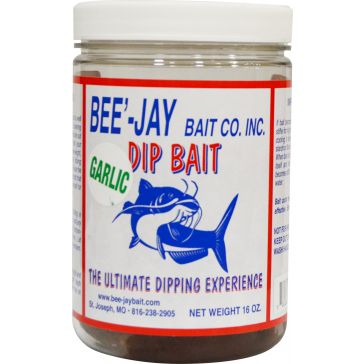 Bee'-Jay Bait Co Catfish Dip Bait Garlic Formula 16oz