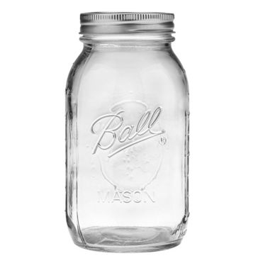 Ball 32oz Regular Mouth Quart Mason Jar 12-Count