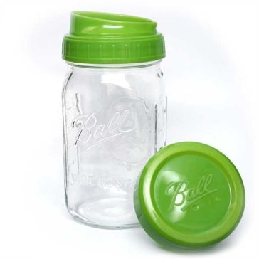 Ball Wide Mouth Pour & Measure Cap w/Quart Mason Jar