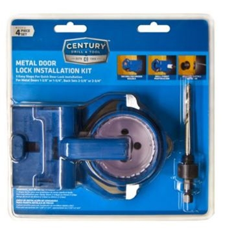 Century Metal Door Lock Installation Kit - 4pc