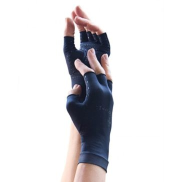 Tommie Copper Mens Recovery Compression Half Finger Gloves