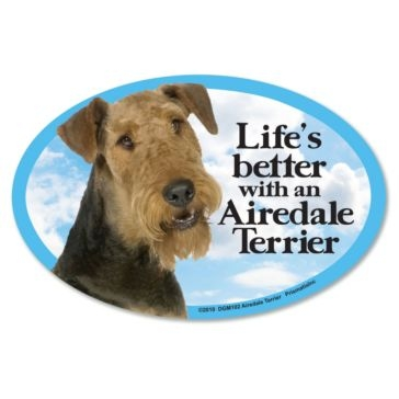 Prismatix Lifes Better With A Airedale Terrier Magnet