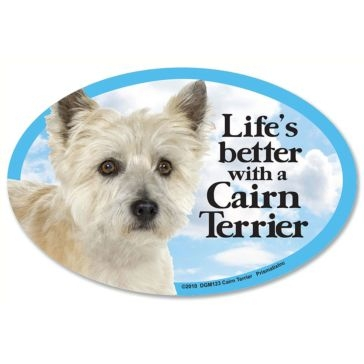 Prismatix  Lifes Better With A Cairn Terrier Magnet