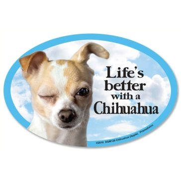 Prismatix  Lifes Better With A Chihuahua Apple Magnet