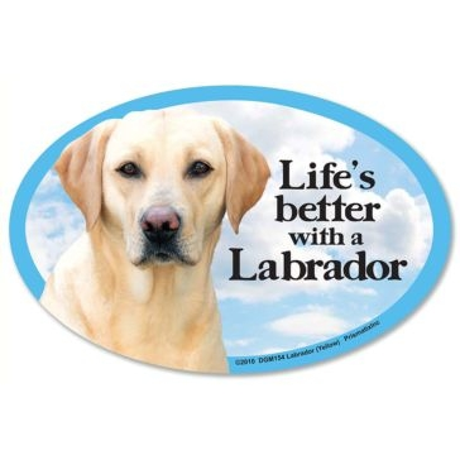 Prismatix Lifes Better With A Yellow Labrador Magnet
