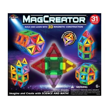 Cra-Z-Art 31 Pc Magcreator Set Building-and-Stacking-Toys