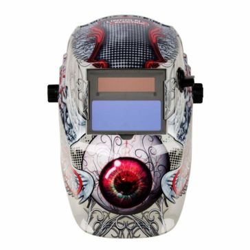Lincoln Electric Bloodshot Warning Auto-Darkening Welding Helmet K3190-1
