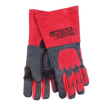 Lincoln Electric Red & Black Premium Leather Welding Gloves KH962