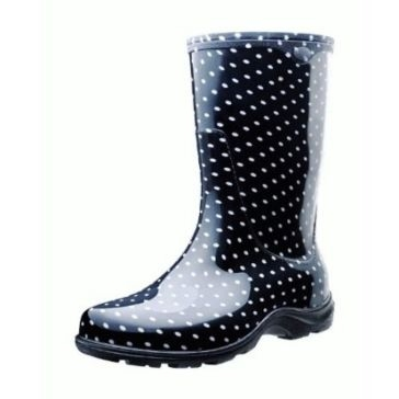 Sloggers Ladies Black Polka Dot Boots