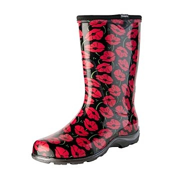 Sloggers Red Poppies Boots - Size 6
