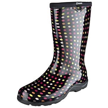 Sloggers Multi Color Polka Dot Boots