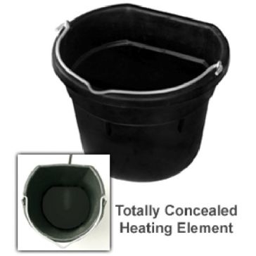 Farm Innovators 18Q Heated Flat Back Rubber Bucket FB-5R