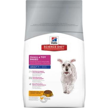 Hill's Science Diet Adult 7+ Small & Toy Breed Dry Dog Food 4.5lb