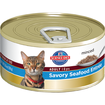 Hill's Science Diet Adult Canned Cat Food - Savory Seafood Entrée 5oz