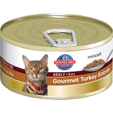 Hill's Science Diet Adult Canned Cat Food - Gourmet Turkey Entrée 5oz