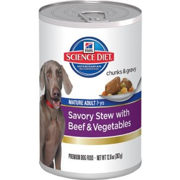 Hills Science Diet Mature Adult 7yr+ Dog Savory Stew with Beef & Vegetables