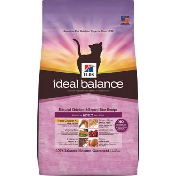 Hill's Ideal Balance Natural Chicken & Brown Rice Recipe Adult Dry Cat Food 3.5lb