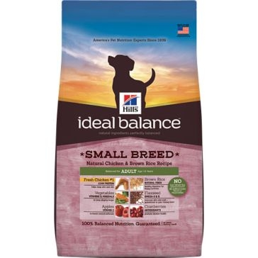 Hill's Ideal Balance Small Breed Natural Chicken & Brown Rice Recipe Adult Dry Dog Food 4lb