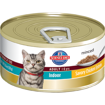 Hill's Science Diet Adult Indoor Canned Cat Food - Savory Chicken Entrée 5oz