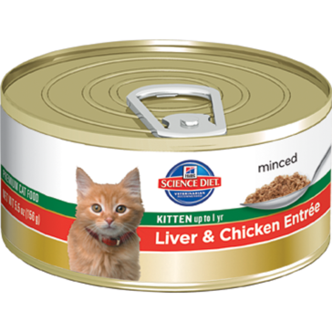 Hill's Science Diet Canned Kitten Food - Liver & Chicken Entrée 5oz
