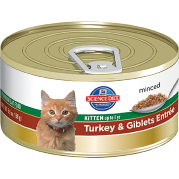 Hill's Science Diet Canned Kitten Food - Turkey & Giblett Entrée 5oz