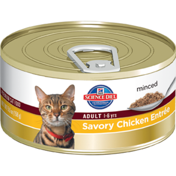 Hill's Science Diet Adult Canned Cat Food - Savory Chicken Entrée 5oz