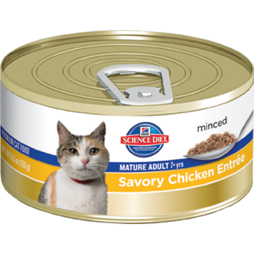 Hill's Science Diet Mature Adult Canned Cat Food - Savory Chicken Entrée 5oz