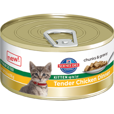 Hill's Science Diet Canned Kitten Food - Tender Chicken Dinner 5oz