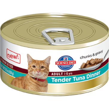 Hill's Science Diet Adult Canned Cat Food - Tender Tuna Dinner 5oz