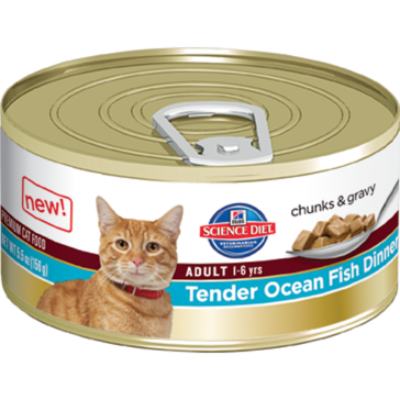 Hill's Science Diet Adult Canned Cat Food - Tender Ocean Fish Dinner 5oz