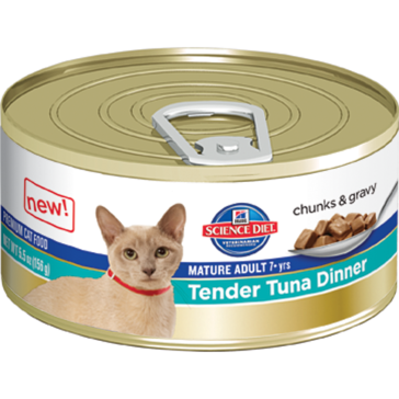 Hill's Science Diet Mature Adult Canned Cat Food - Tender Tuna Dinner 5oz