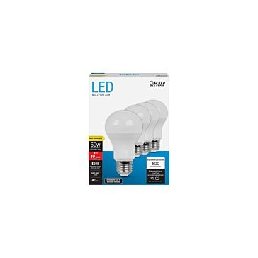 Feit Electric LED 800 Lumen 60 Watt Bulbs 4-pack